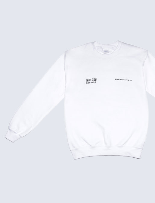 SWERV SWEATER WHITE